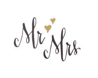 Mr and mrs clipart with heart image download mr mrs svg dxf file instant download silhouette cameo cricut clip ... image download