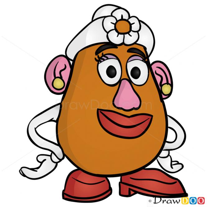Toy story mr potato head face clipart