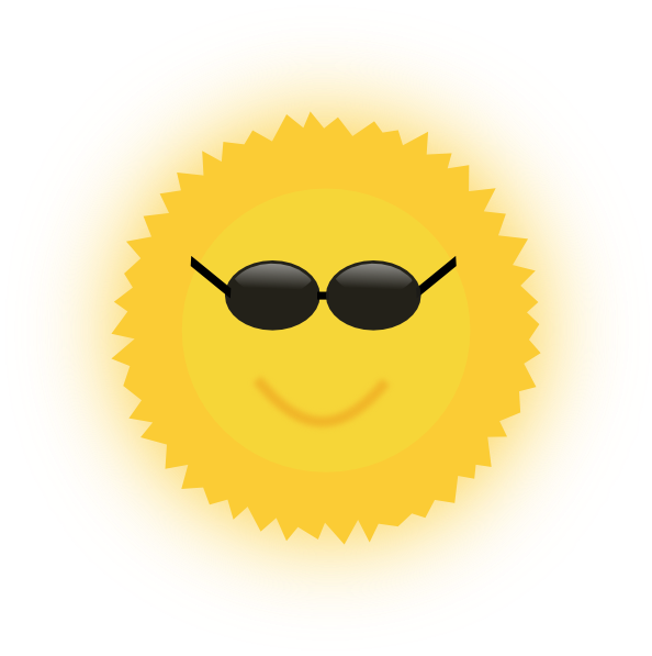 Smiling sun clipart royalty free clip download Cool Sun Clip Art at Clker.com - vector clip art online, royalty ... clip download