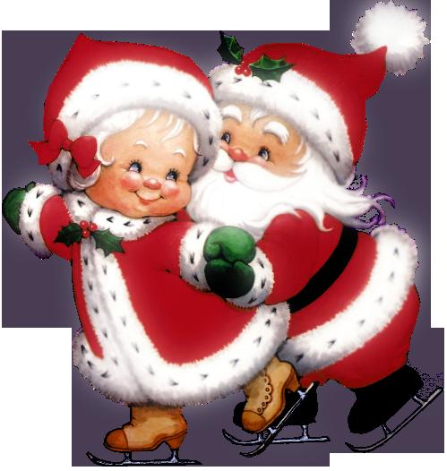Mrs santa clipart jpg free stock Transparent Cute Mrs Claus and Mr Claus PNG Clipart ... jpg free stock