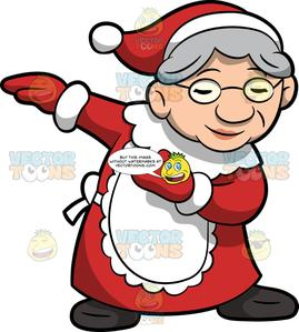 Mrs santa clipart graphic library stock A Dabbing Mrs Claus graphic library stock