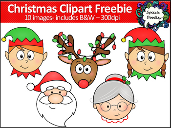 Mrs santa clipart vector library Christmas Clipart Freebie -10 images! Elf, Santa, Mrs Claus and Reindeer  Clipart vector library