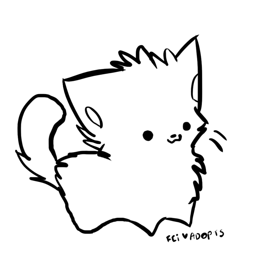 Ms paint chibi uncolored clipart vector black and white library Free Cat Line Art, Download Free Clip Art, Free Clip Art on Clipart ... vector black and white library