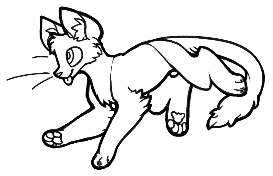 Ms paint chibi uncolored clipart library Ms paint cat lineart chibi - 15 linearts for free coloring on ... library