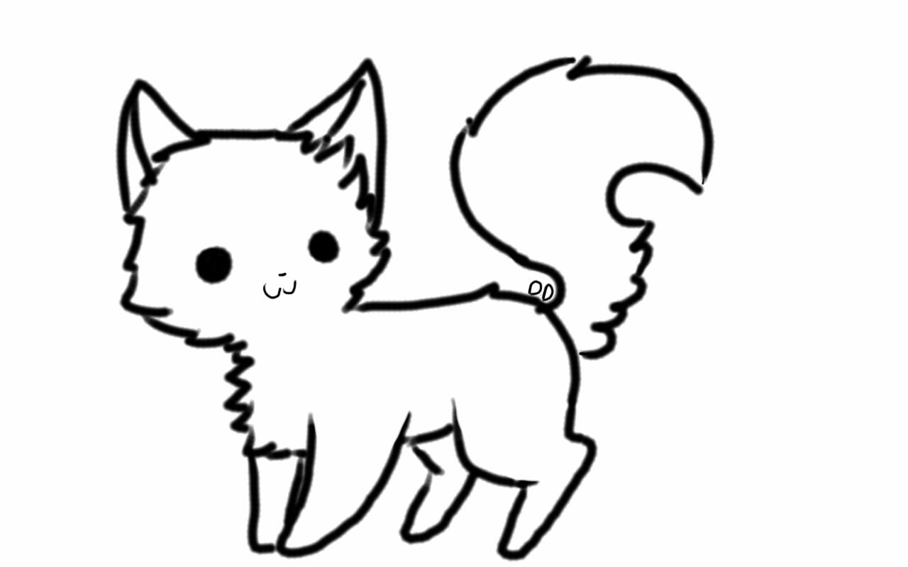 Ms paint chibi uncolored clipart clipart black and white stock Chibi Cat Drawing | Free download best Chibi Cat Drawing on ... clipart black and white stock
