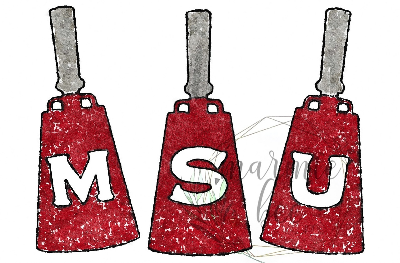 Msu cowbell clipart png black and white library MSU Cowbell Trio png black and white library