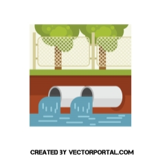 Mtoxic wastewatres clipart image black and white library Wastewater vector clip art - Free vector image in AI and EPS format. image black and white library