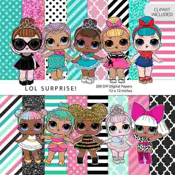 Mu ecas lol clipart banner Muñecas Lol Surprise Abiertas - Kits Imprimibles en Mercado Libre México banner
