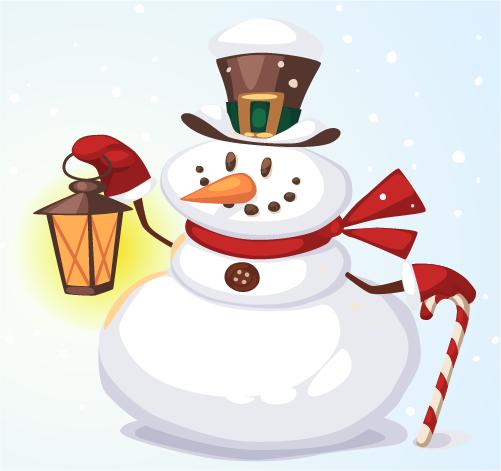 Mu eco de nieve clipart svg freeuse Simpático muñeco de nieve - Vector | Vector Clipart svg freeuse