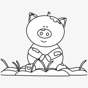 Mud clipart black and white clipart royalty free stock Free Pig Clipart Black And White Cliparts, Silhouettes, Cartoons ... clipart royalty free stock