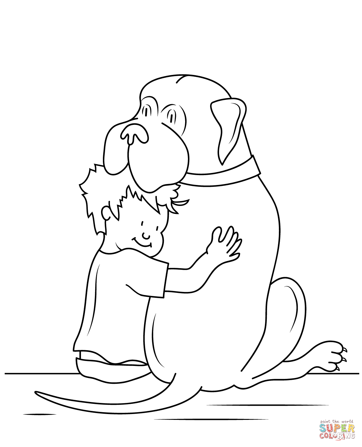 Mudge clipart jpg royalty free library Henry and Mudge coloring page   Free Printable Coloring Pages jpg royalty free library
