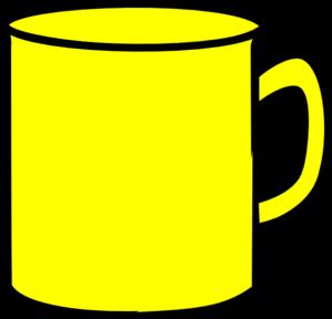 Mug clipart banner black and white stock Yellow Mug Clip Art at Clker.com - vector clip art online, royalty ... banner black and white stock