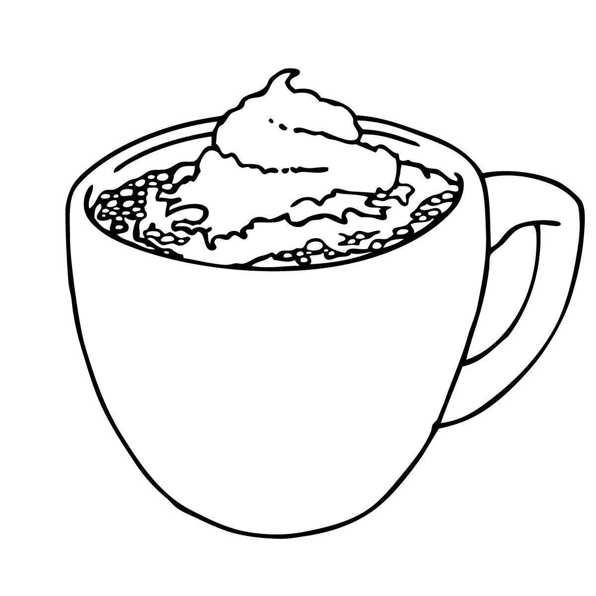 Mug of cocoa with whipped cream clipart black and white png black and white download Cocoa Drawing at PaintingValley.com | Explore collection of Cocoa ... png black and white download