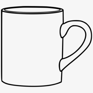 This Png File Is About Outline , Coffee , Cup , Mug - Outline Mug ... banner transparent library