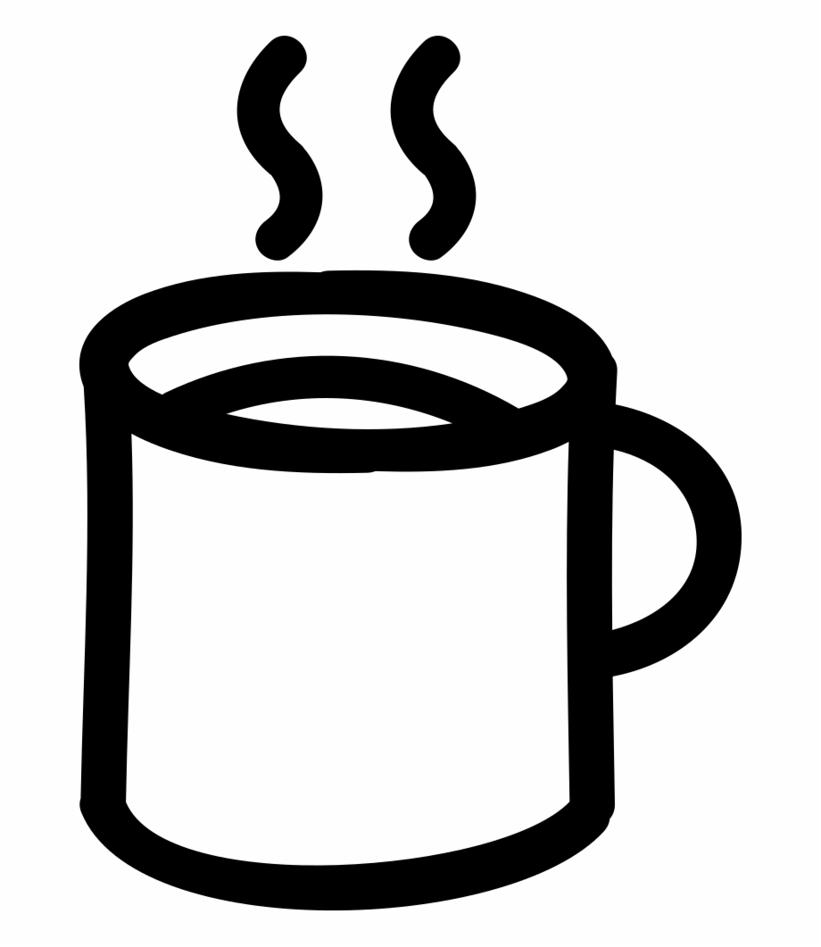 Coffee Hot Mug Hand Drawn Outline Comments - Outline Of Mug Free PNG ... graphic freeuse library