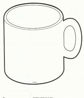 Hot Chocolate Mug Template Printable Sketch Coloring Page | school ... transparent