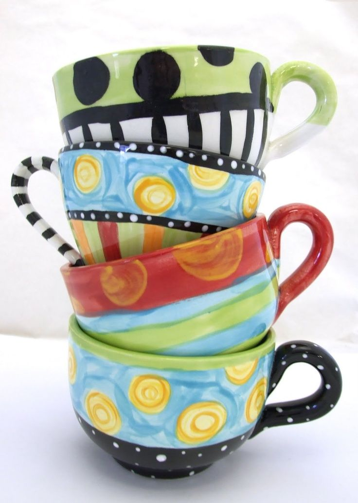Mugpainting clipart jpg transparent stock Tea Cup clipart pottery painting - Pencil and in color tea cup ... jpg transparent stock