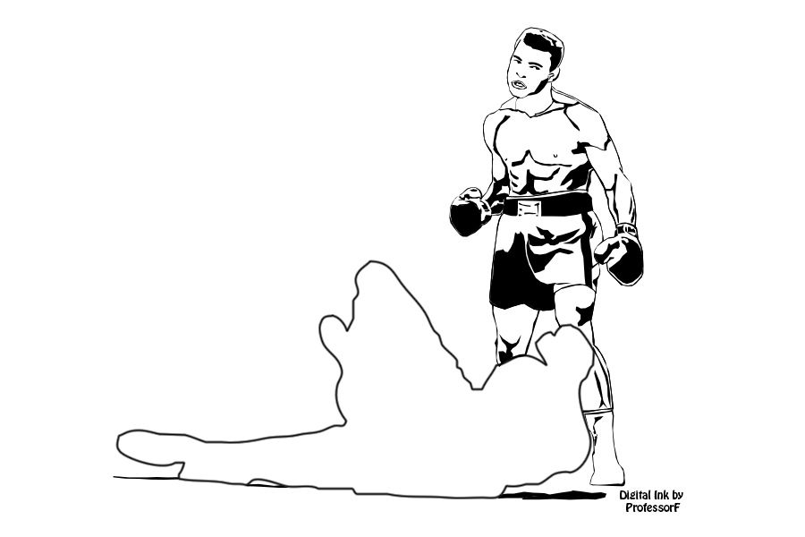 Muhammad ali clipart clipart black and white library Muhammad Ali when he was Cassius Clay | ProfessorF\'s Digital ... clipart black and white library