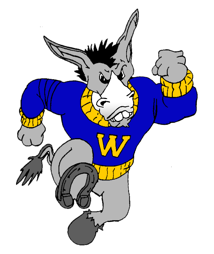 Mule basketball mascot clipart freeuse library The Theodore Roosevelt Rough Riders defeat the Woodrow Wilson Mighty ... freeuse library