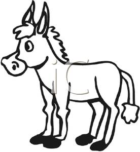 Mule clipart black and white image free stock Donkey Clipart Black And White | Free download best Donkey Clipart ... image free stock