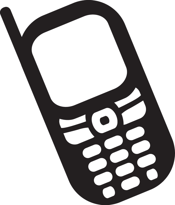 Mule cell phone clipart black and white clip royalty free Telephone Clipart Black And White - Free Clipart clip royalty free