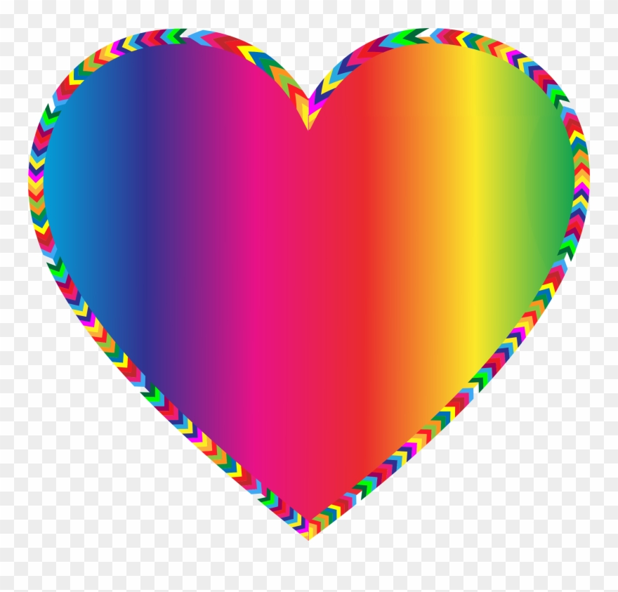 Multi - Different Colors Heart Clipart - Png Download ... clip transparent stock
