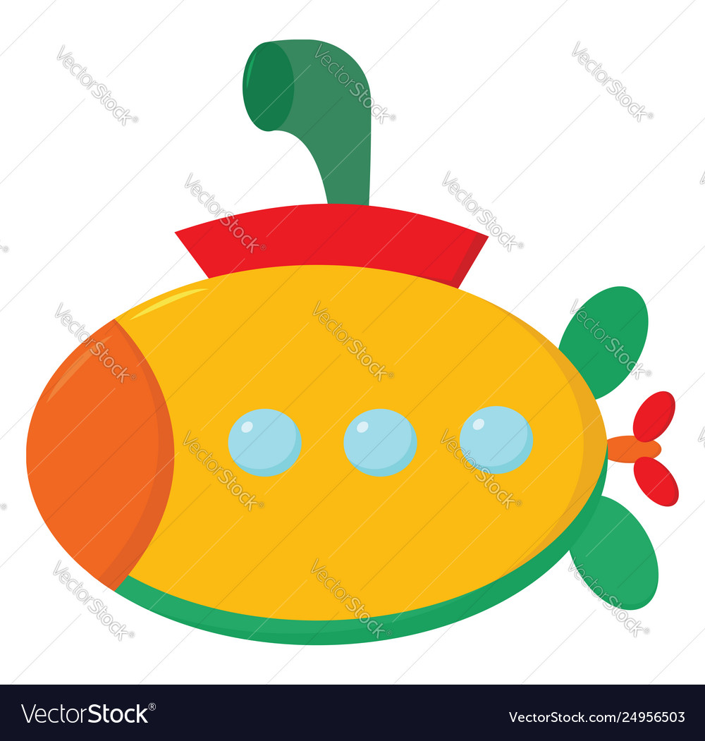 Clipart a multi-colored submarine or color jpg transparent