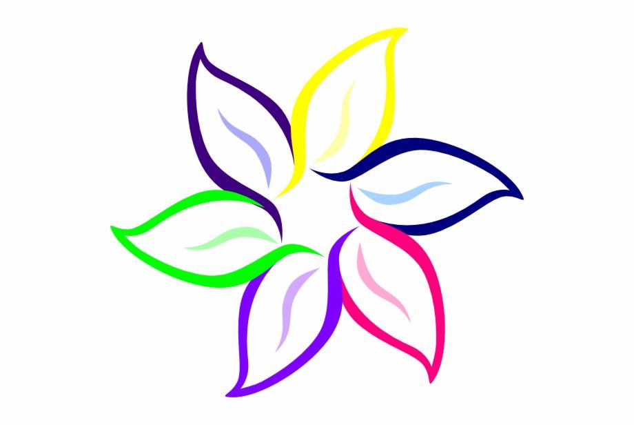 Multi colored clipart clip art black and white stock Color In Flower Multi Color Flower Clip Art At Clker ... clip art black and white stock