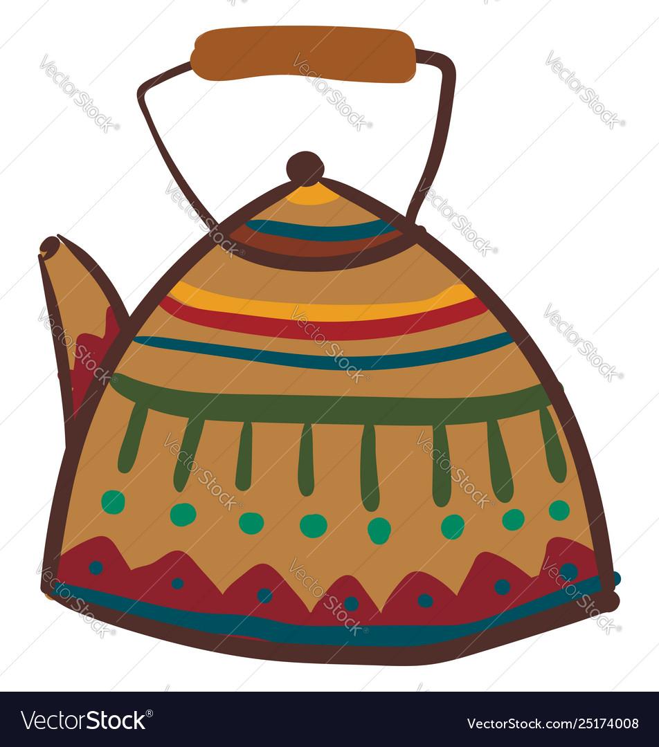 Multi colored clipart vector Clipart multi-colored teapot or color vector