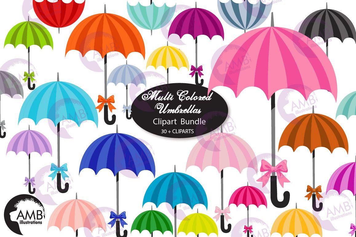 Multi colored clipart clip art library stock Multi Colored Umbrella clipart, graphics, AMB-2616 clip art library stock