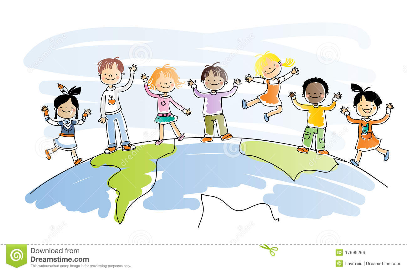 Multicultural kids clipart picture library stock Multicultural Children Clip Art Free picture library stock
