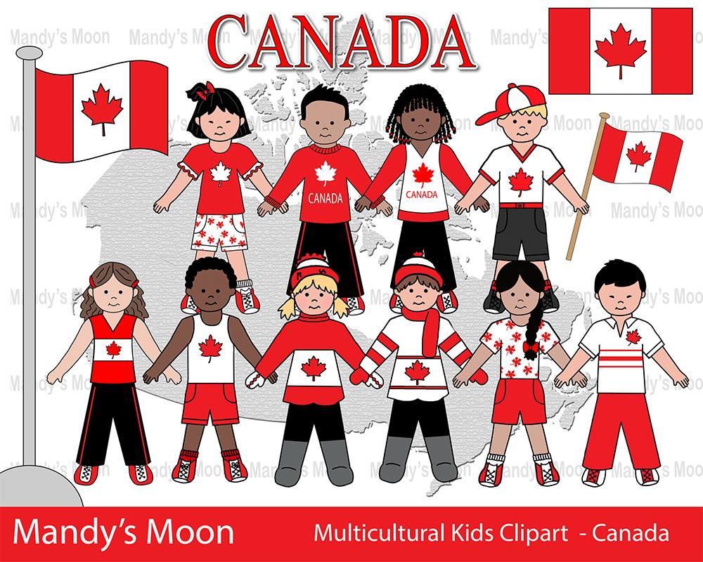 Multicultural kids clipart clip library download Multicultural Kids Clipart - CANADA (Personal & Nonprofit Use only) clip library download