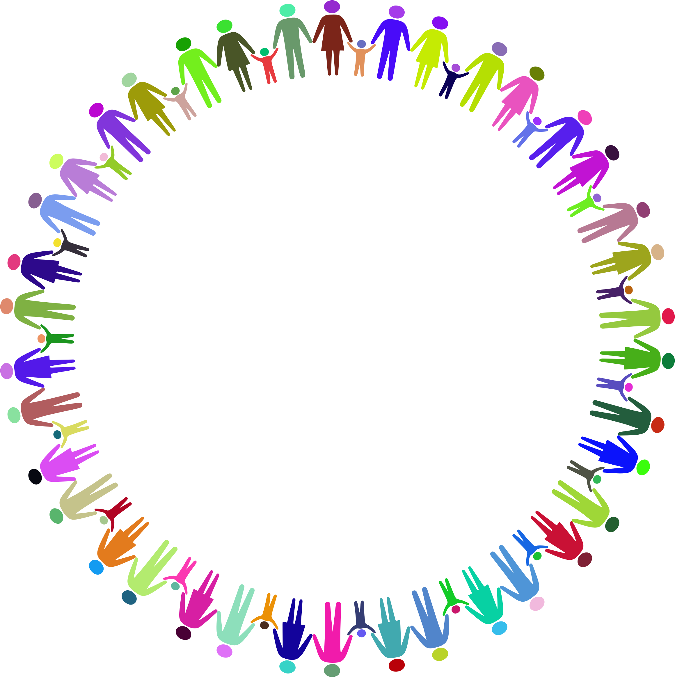 Multiracial hands making a circle clipart clip art free download Holding Hands In A Circle Group with 52+ items clip art free download