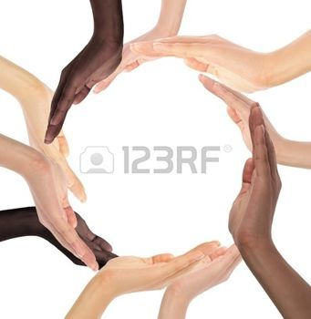 Multiracial hands making a circle clipart picture black and white library diversity: Conceptual symbol of multiracial human hands ... picture black and white library