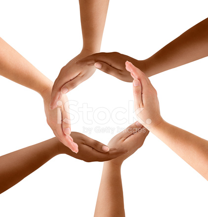 Multiracial hands making a circle clipart black and white Multiethnic Hands Forming Circle Stock Photos - FreeImages.com black and white