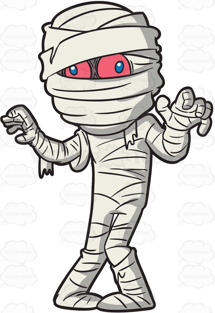 Mumm clipart clip A mummy trying to scare people #cartoon #clipart #vector ... clip