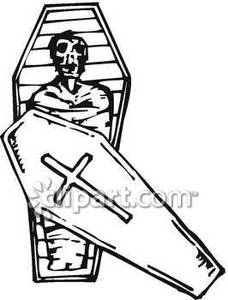 Mummies clipart in coffin clipart royalty free library A Mummy In an Upright Coffin Royalty Free Clipart Picture clipart royalty free library