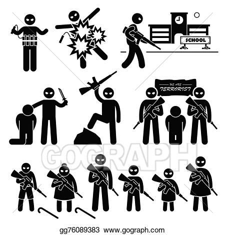 Murderers clipart jpg stock Vector Art - Terrorist terrorism suicide bomber. EPS clipart ... jpg stock