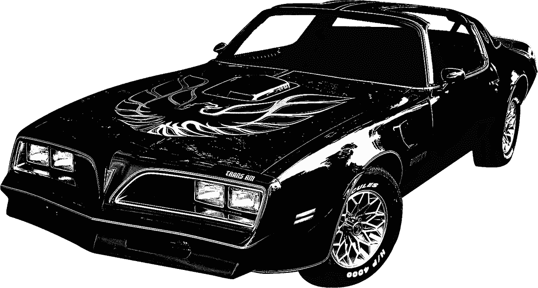Mustang car clipart black and white image The Many Faces Of… Burt Reynolds image