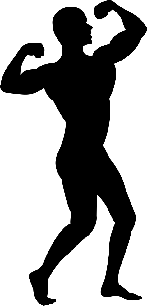 Muscle man baseball man clipart black and white royalty free library Muscle Man Silhouette Clip Art at GetDrawings.com | Free for ... royalty free library