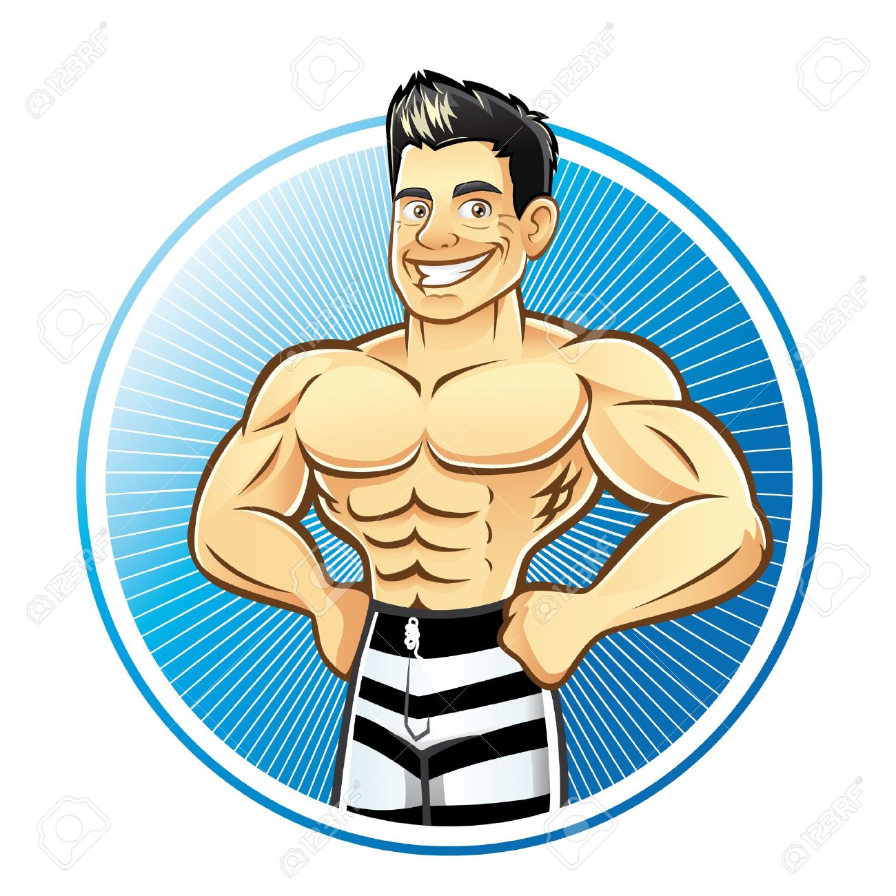 Muscle man cartoon clipart png black and white download Muscle Man Cartoons Group with 20+ items png black and white download
