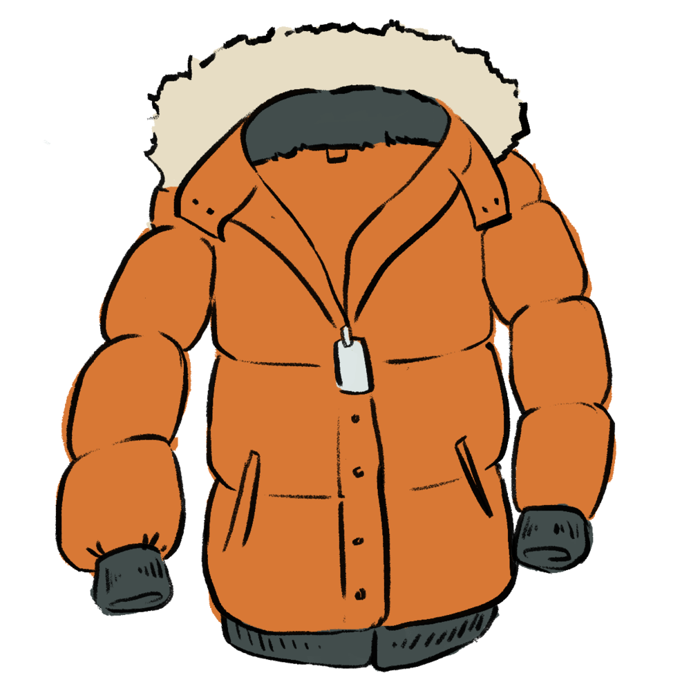 Pumpkin on a slope clipart image library library Winter Coat Clipart at GetDrawings.com | Free for personal use ... image library library