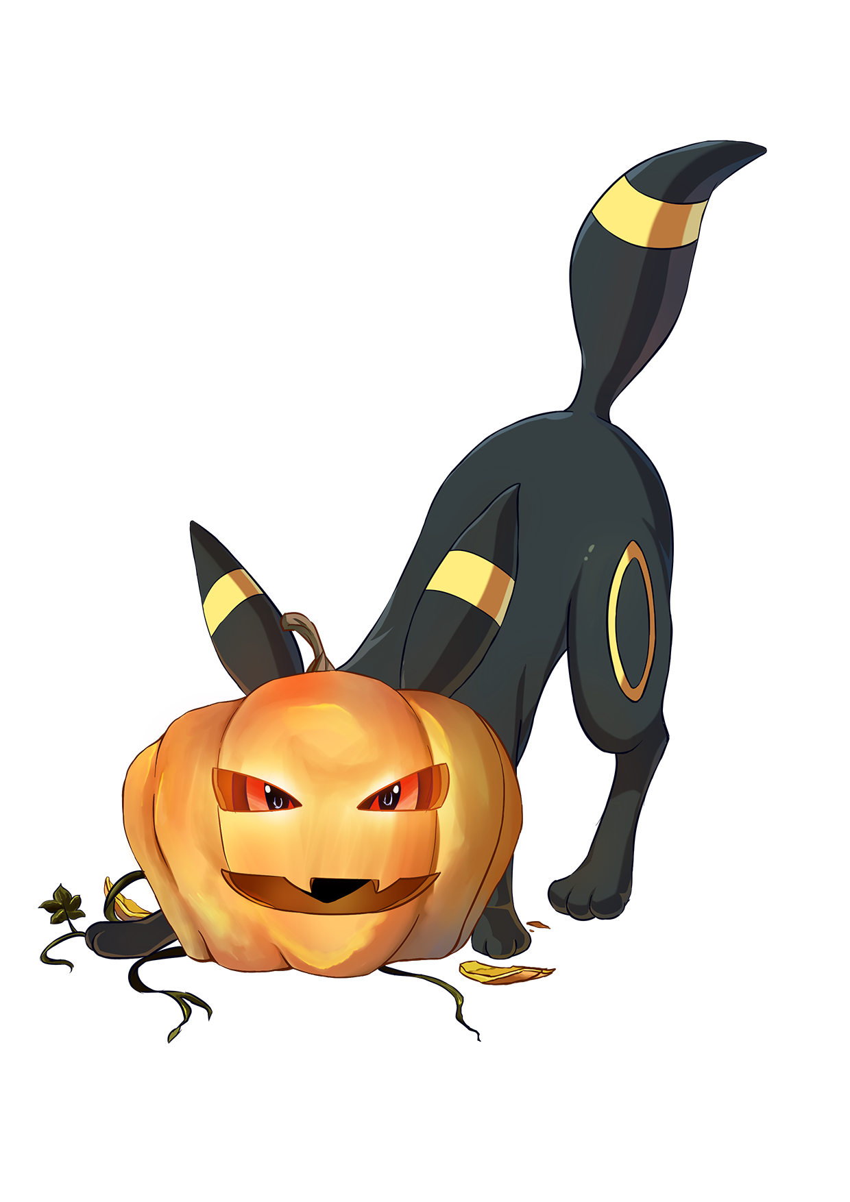 Muscle pumpkin clipart clip art free stock Umbreon as a Pumpkin   Pokémon   Know Your Meme clip art free stock