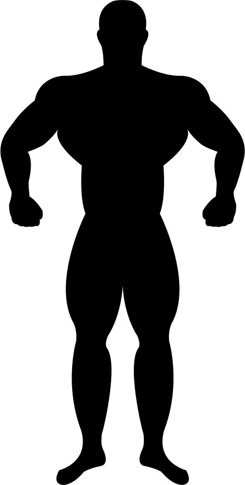 Muscle sun clipart svg library download Muscular Silhouette at GetDrawings.com   Free for personal use ... svg library download