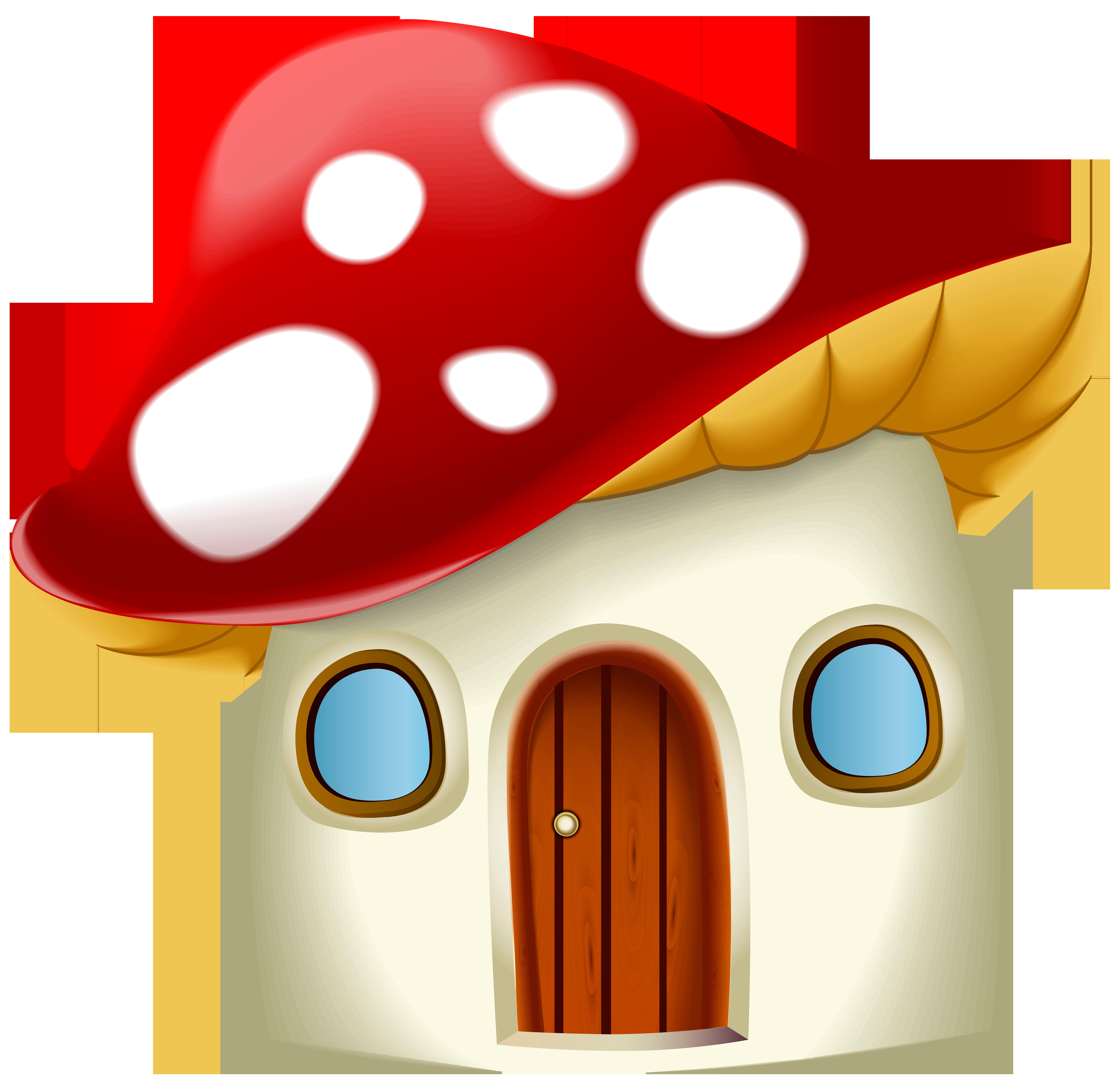 Mushroom house clipart svg transparent Mushroom House Cartoon | Gallery Yopriceville - High-Quality Images ... svg transparent