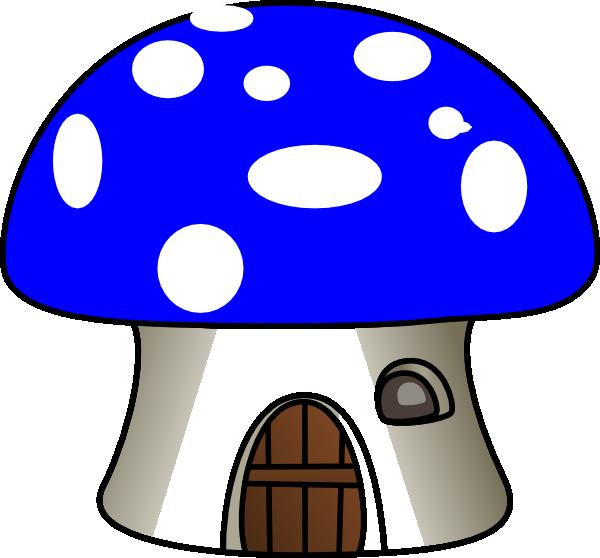 Mushroom house clipart png free Mushroom In Blue Clip Art at Clker.com - vector clip art online ... png free