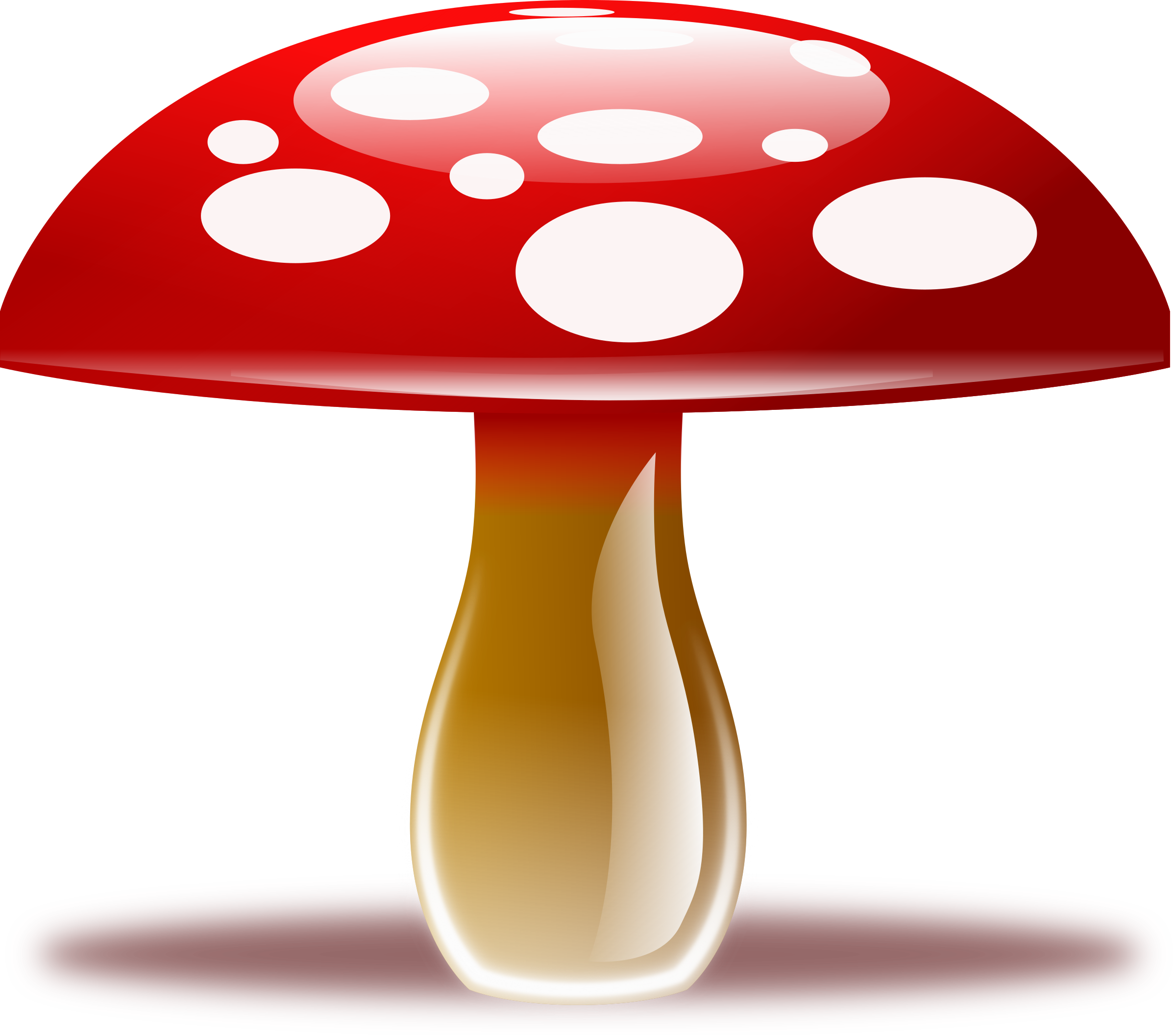 Mushroom house clipart png library download Red mushroom png clipart #42888 - Free Icons and PNG Backgrounds png library download