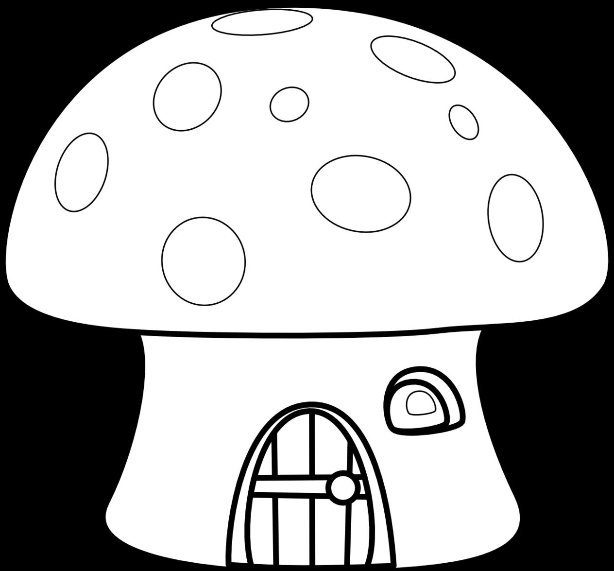 Mushroom house clipart clipart royalty free download 28+ Collection of Mushroom House Clipart Black And White | High ... clipart royalty free download