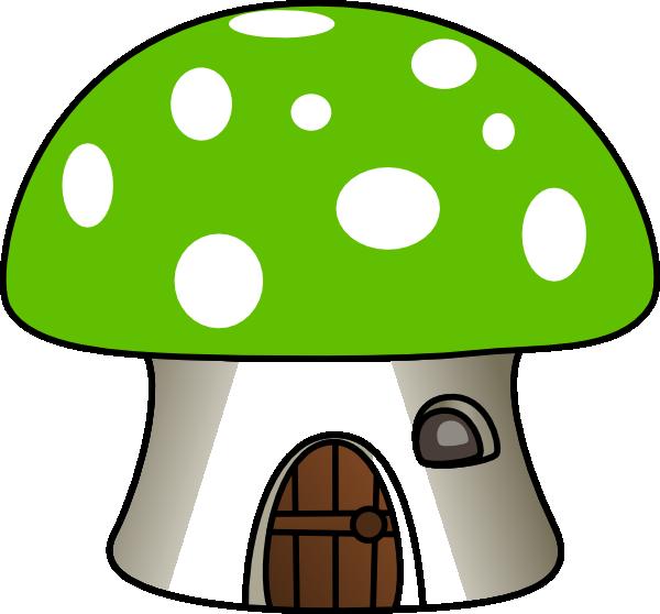 Mushroom house clipart vector freeuse stock Green Mushroom House Clip Art at Clker.com - vector clip art online ... vector freeuse stock