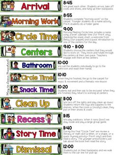 Music and movement preschool daily schedule clipart picture stock 104 Best Preschool Schedule images in 2019   Preschool ... picture stock
